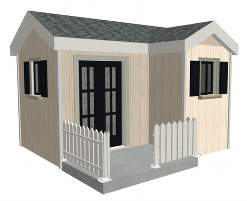 The Cottage Playhouse Plan PDF and DWG files