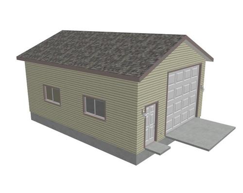 G427 22 x 30 x 12 Workshop RV garage Plans