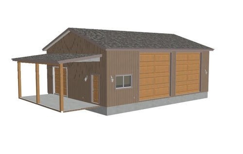 g240 30 x 40 - 13 RV Garage Plans with lean to