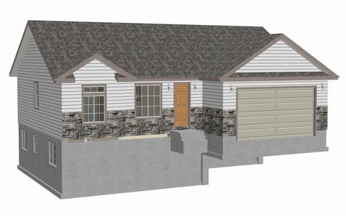 Plan #sds239 1300 sq ft 3 bdrm 2 bth 1300 sq ft small house plans DWG and PDF