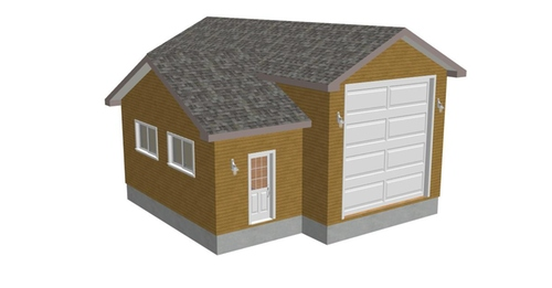 g264 16 x 35 x 14 10 x 21 x 10 RV garage Plans Blueprints