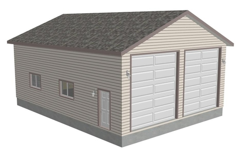 G371 30 X 40 X 14 Workshop RV Garage plans
