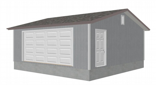 G467 24 x 24 -8' Garage Plans With PDF and AutoCAD DWG Eave side Door