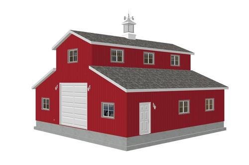 #g315 40 x 40 Monitor Barn Plans DWG and PDF