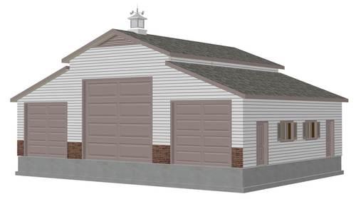 g197 Custom 36 x 46 RV Garage Plans PDF