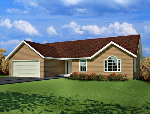 Plan #62 1330 Sq Ft Custom Home Design AutoCAD DWG and PDF