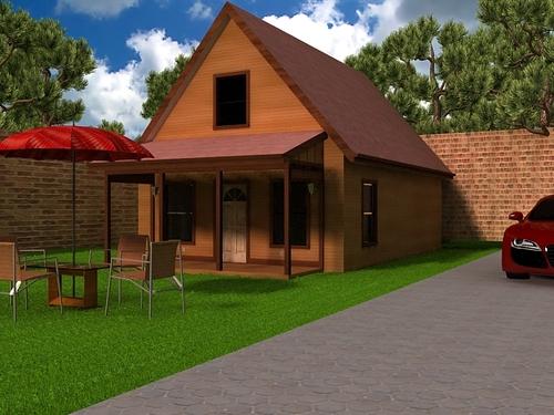 H259 Aspen Cabin Design 20' x 30' in DWG and PDF