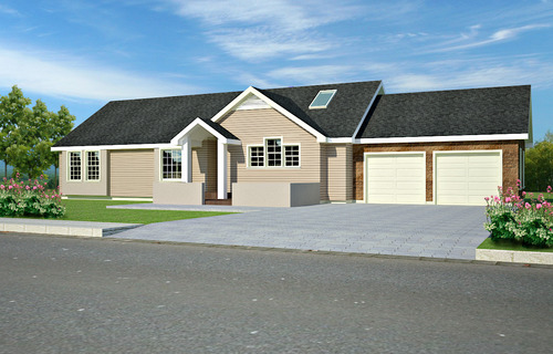 #h87 Ranch house Plan 3 bdrm 2 bath 1400 sq ft