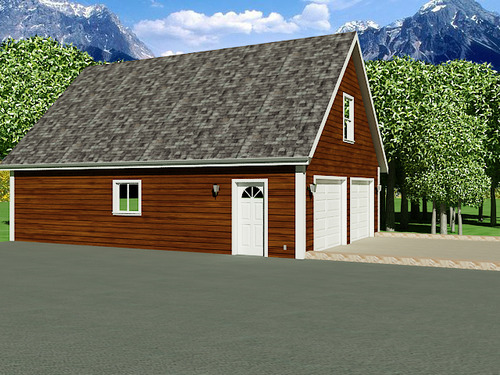 G196 26' x 36' Garage With Loft DWG and PDF