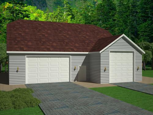 G383A 20' X 60' X 14' and 33' X 50' X 12' detached garage with bonus room