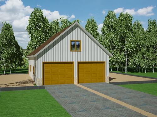 G394 30' X 50' X 10' detached garage with bonus room