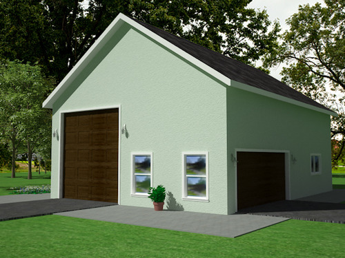 G395 30' X 40' X 14' Garage with Apartment Plan