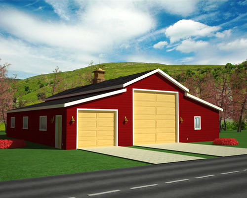 g450 50' x 60' - 9' Sides 14' Center Garage Plan With Apartment Plan