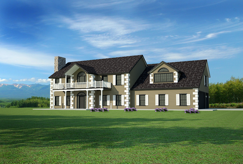 #H202 Custom House Plans Country Estate DWG and PDF