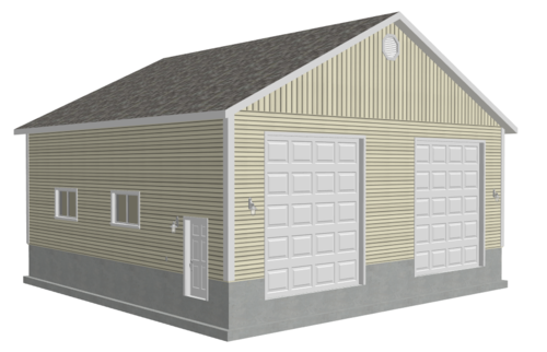 g512 40 x 40 x 14 with 16' Ceiling Height RV Garage Plans DWG and PDF