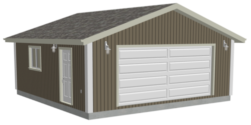 G518 24 x 24 x 8 Garage Plans with PDF and DWG