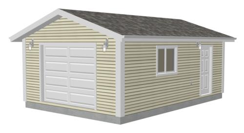 G521 16 x 24 x 8 Garage Plans PDF and DWG