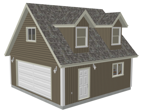 G527 24 x 24 x 8 Loft and Dormers DWG and PDF