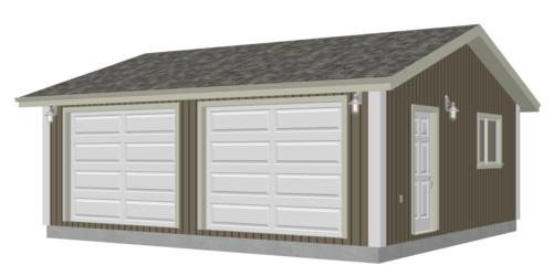 G528 24 x 22 x 8 Garage Plan PDF and DWG
