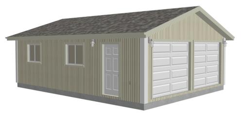 G529 22 x 30 x 8 Garage Plans DWG and PDF