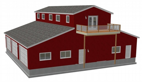 G468 60 x 60 14 Barn RV Garage with apartment PDF and DWG files