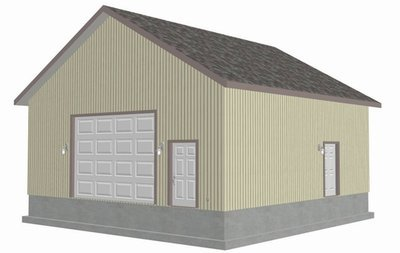 G434 28 X 28 - 12 Garage Plans With Bonus Storage