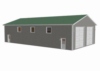 #g322 Custom 40 x 72 - 16' Garage Plan in PDF and DWG