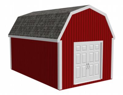 g484 12' x 20' Gambrel Barn - Shed + Bonus 12 x 20 x 10 DWG and PDF