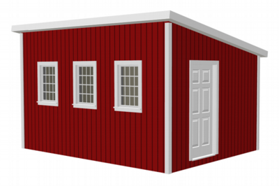G481 12 x 16 x 8 Garden Shed / Chicken Coop / Playhouse / Bunkhouse