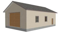 #g226 30 x 48 - 14' tall garage plan