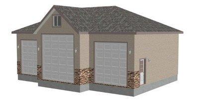 G409 44′ X 44′ X 14′ RV Garage Plans Blueprints
