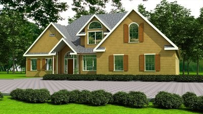 h111 Custom Executive house Plan 3 bdrm 3 bath 2100 sq ft main 1088 sq ft second floor with DWG and PDF
