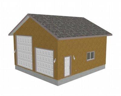 G426 28 x 30 x 14 detached RV garage Plans