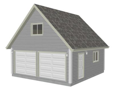 G526 22 x 24 - 8' Garage Plan With Loft DWG and PDF