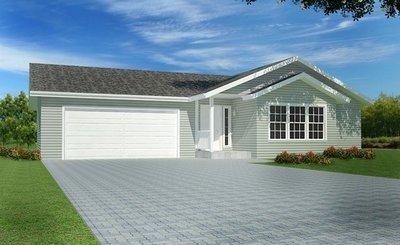 #H155 House Plan 1352 Sq Ft 3 bdrm 2 Bath DWG and PDF