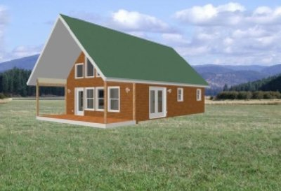 24' x 32' Cabin Plans