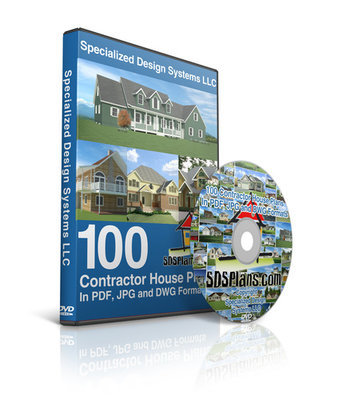 100 Contractor Ready House Plans on a DVD in DWG and PDF formats