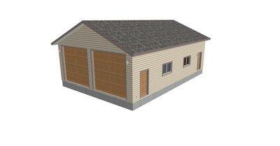 g237b 30 x 44 x 14 RV Garage Plans