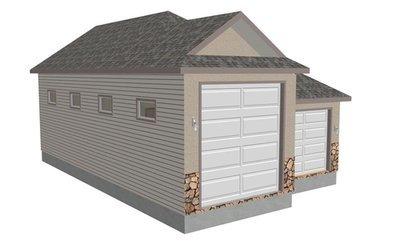 G355 30 X 48 X 14 detached RV Garage Plans in PDF