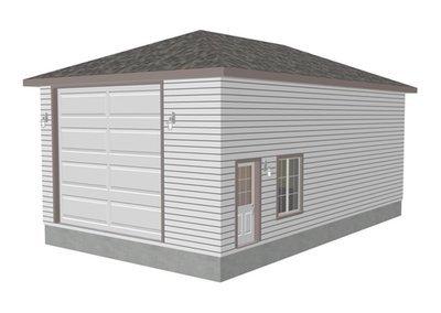 g272 22 x 38 x 14 hip Roof RV Garage Plans Blueprints