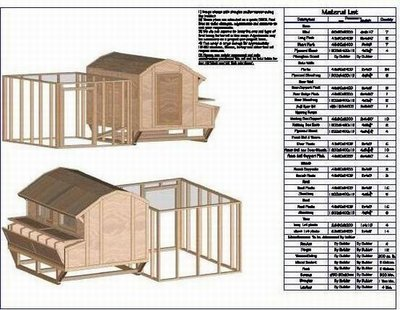 Gambrel Chicken Barn Plan