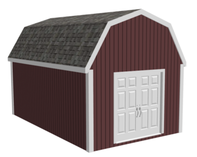 Gambrel Roof 10' x 12' Barn Style Shed Plan