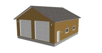 g241 36 x 43 x 14 Workshop RV Garage Plans Blueprints