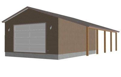 sds g246 30 x 40 x 14-12 doors Workshop RV Garage Plans