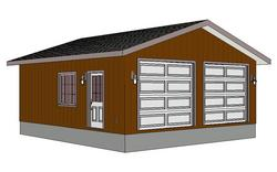 #g218 24 x 26 garage plan with PDF and DWG