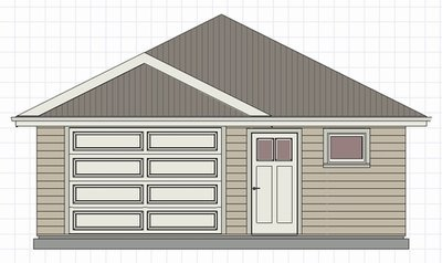 Affordable 24 x 24 Garage Plan
