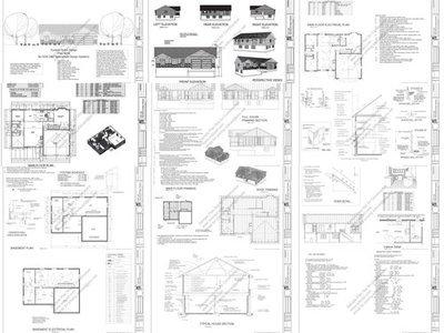 Print and ship basic plans plus CD with digital plan