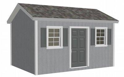 G473 10 X 14 X 8 garden shed playhouse plan chicken coop