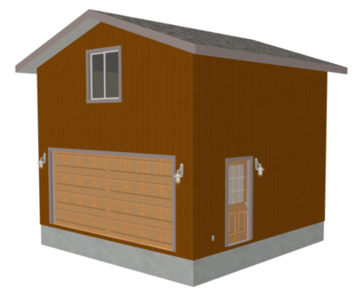 G229 20' x 20' 2 Story Garage Plan