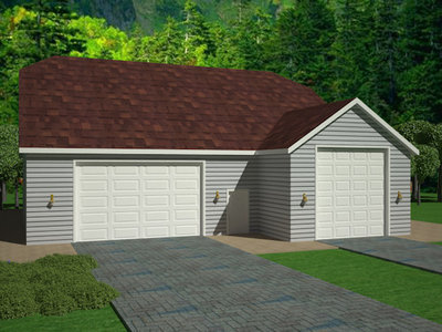 G383A 20' X 60' X 14' and 33' X 50' X 12' detached garage with bonus room